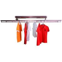 L-Best Led Işık Lı Kıyafet Ve Çamaşır Kurutmalık Metalik Kırmızı 2,2 M