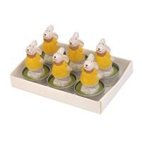 Hepsi Dahice Fun Candle Tealight Tavşan Sarı 6'Lı