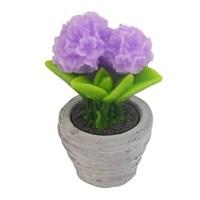 Hepsi Dahice Fun Candle Led Saksı Çiçek Lila Küçük H13 D7cm