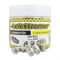 Elektromer Rg6/U4 F Ara Konnektör 100 Lü Kutu