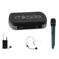 Mikado Mcw-801B Kablosuz Konferans Set Mikrofon 16X2 Kanal Siyah