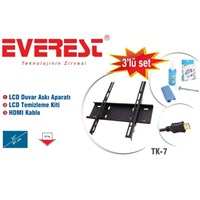 """Everest TK-7 32""""-42"""" 3'lü Tv Aksesuar Seti"""