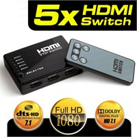 Dark Full HD 5 Giriş 1 Çıkışlı Uzaktan Kumandalı HDMI Switch (DK-HD-SW4X1TV)