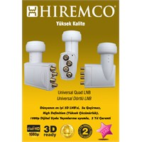 Hiremco 3D-Full HD Dört Çıkışlı Üniversal LNB