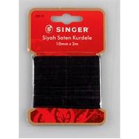 Singer 300-70 Siyah Saten Kurdele (10 mm x 3 m)