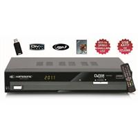 Kamosonic KS-R1081 USB/USB'ye Kayıt ve Bissli Uydu Alıcı