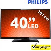 "Philips 40PFL3008K 40"" 100Hz Uydu Alıcılı UsbMovie FULL HD LED TV"