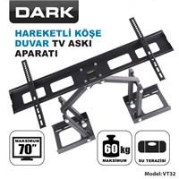 Dark DK-AC-VT32 37'-70' Hareketli Köşe/Duvar TV Askı Aparatı