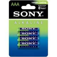 Sony AM4LB4D Alkalin İnce Pil (AAA) (4'lü Blister Ambalaj)