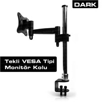 "Dark 1 TV Destekli Masa Tipi 13""-27"" LCD TV Kolu (DK-AC-VM10TV)"