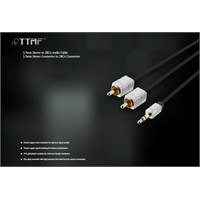 TTAF Nano Pro 3.5mm Stereo - 2 RCA Connector Audio Y Kablo 1m