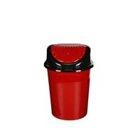 Modelüks 13 Lt İstiridye Çöp Kovası - Kırmızı
