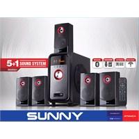Sunny SN3SS21 Bluetoothlu 5+1 Radyolu /USB/SD/MMC Kart Okuyuculu Ses Sistemi