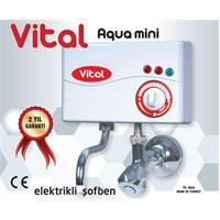 Vital Aqua Mini 2 Kademeli Kireç Önlemeli Musluk üstü Ani Su Isıtıcı