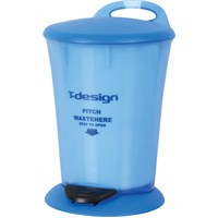 T-Design Plastik Çöp Kovası 16Lt Mavi