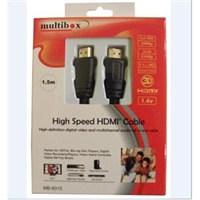 Multibox MB-6015 Altın Uçlu HDMI Kablo 1,5 mt