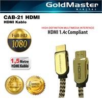 Goldmaster Cab-21 4K 3D Full HD Altın Uçlu HDMI Kablo (1,5 metre)
