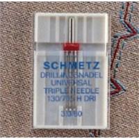 Schmetz Çok Amaçlı 3 Uçlu Dikiş İğnesi 80 Numara 3 mm İğne Aralığı Tekli Paket