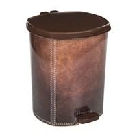 Modelüks 20 Lt Plastik Çöp Kovası - Kahverengi Deri Görünümlü