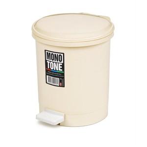 bora monotone pedallı çöp kovası 3 litre no 0 - bo 181 - krem rengi