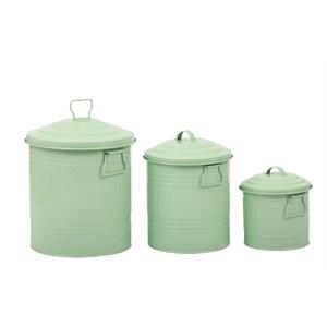 fidex home 3lü çöp kova set-yeşil