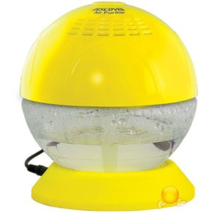 discover led ışıklı geniş alan kokulandırma ve hava temizleme cihazı - sarı