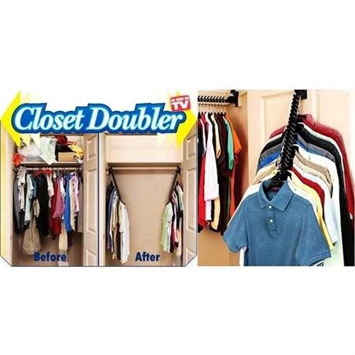 Dörtgen Clouset Doubler Askı