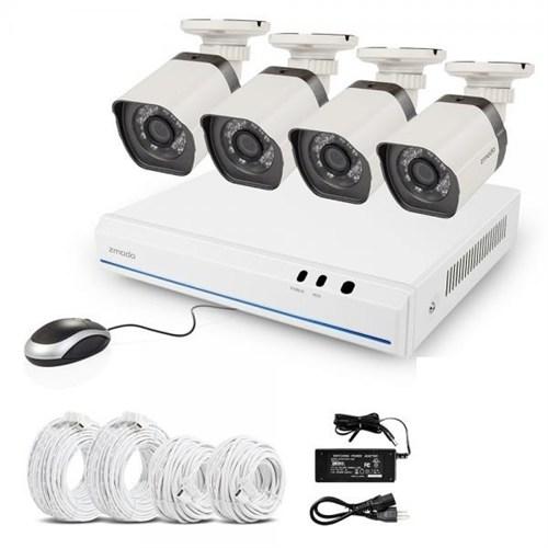 Zmodo Zm-Ss78d9d4 Nvr Kit,4 Kanal Nvr+4 Ip Kamera Seti