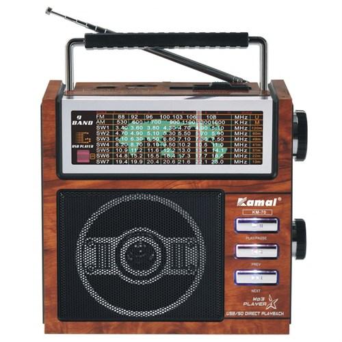 Kamal Km-70 Usb+Sd Mp3 Çalar Şarjlı Radyo