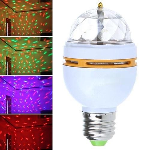 LoveQ 3 Renk Işık Yansıtan Dekoratif Lamba Crystal Magic Bulb