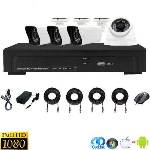 Opax Nvr-6100-4Et2/15 Ip Kamera Seti ( 960P 1.3 Mp 3 Adet Ip Bullet Kamera 1 Adet Ip Dome Kamera Seti )