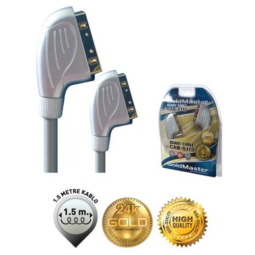 Goldmaster Cab-S113 Altın Uçlu 1,5m Scart Kablo
