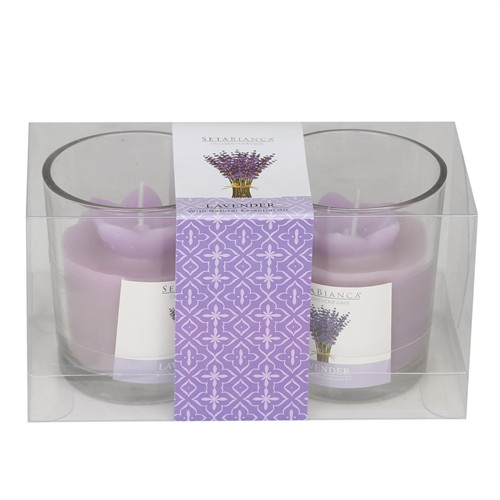 Hepsi Dahice Aroma Mum Kokulu Cam Bardak 2'Li Lavender