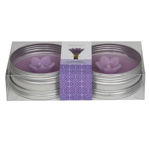 Setabianca Aroma Mum Kokulu Metal Kutu 2'Li Lavender