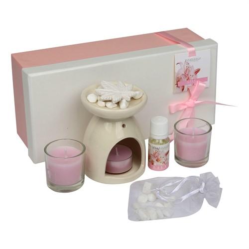 Hepsi Dahice Aroma Diffuser Set Cam Mum 2'Li Koku Lily