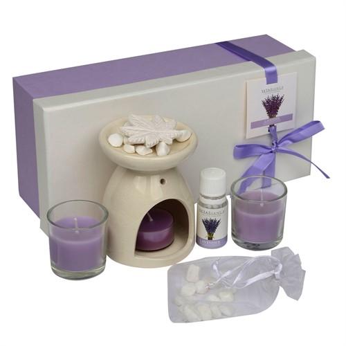 Hepsi Dahice Aroma Diffuser Set Cam Mum 2'Li Koku Lavender