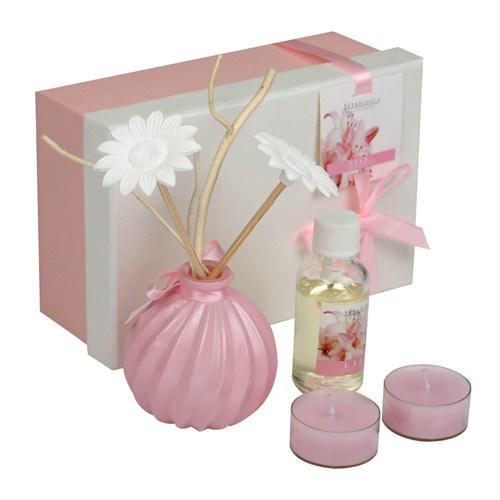 Hepsi Dahice Aroma Diffuser Set Tealight 2'Li Tütsü Lily
