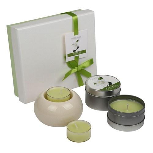 Hepsi Dahice Aroma Diffuser Set Metal Mum Tealight Jasmine