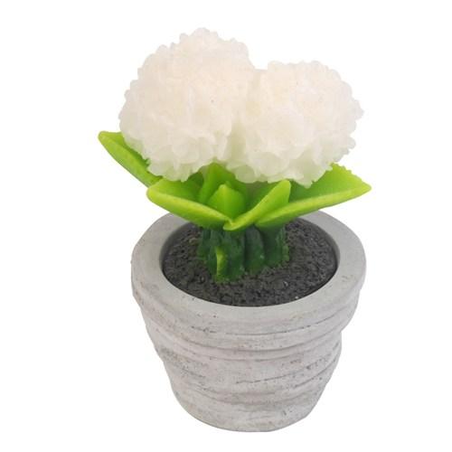 Hepsi Dahice Fun Candle Led Saksı Çiçek Beyaz Büyük H16 D9cm