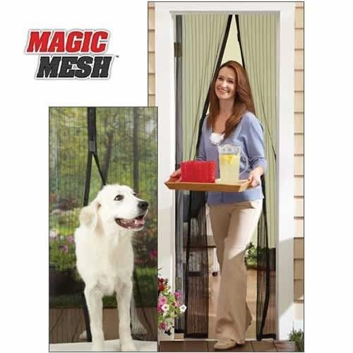 Bluzen Mıknatıslı Kapı Sinekliği Magic Mesh - Kahve