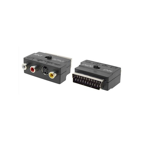 Swat 3Rca To Scart Audio Video Adaptör İn-Out Anahtarlı
