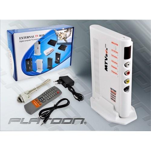 Platoon Pl-8528 Tv Box Görüntü Aktarıcı Monitör Televizyon Çevirici Tv