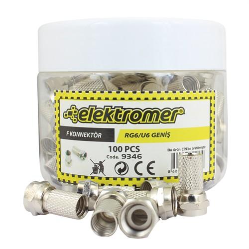 Elektromer Rg6/U6 F Konnektör 100 Lü Kutu