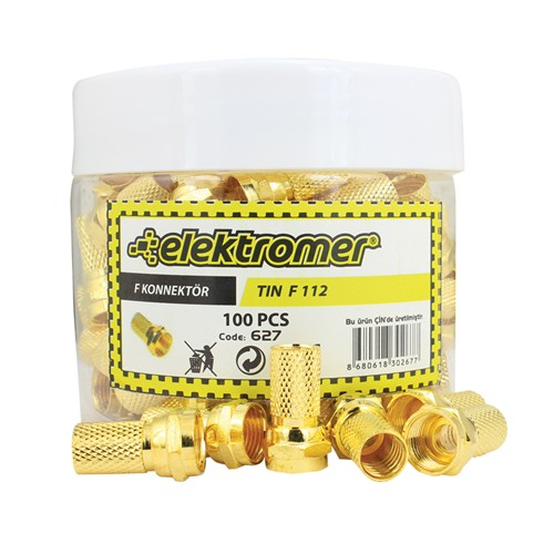 Elektromer Rg6/U4 Gold F Konnektör 100 Lü Kutu