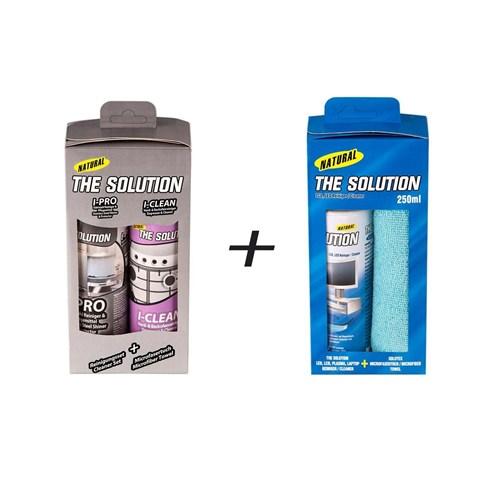 The Solution Lcd,Led Temizleme Seti Ve The Solution İ-Set Ankastre,Paslanmaz Çelik Temizleme Parlatma Seti