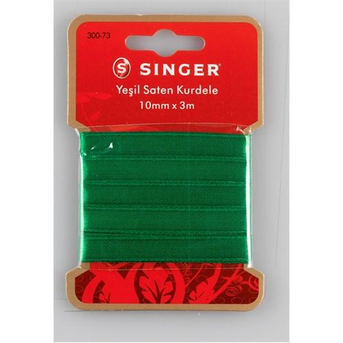 Singer 300-73 Yeşil Saten Kurdele (10 mm x 3 m)