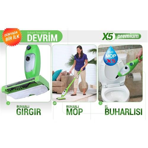 H2O MOP X5 Premium Buharlı Zemin ve Halı Temizleyici Buharlı Temizlik Makinası