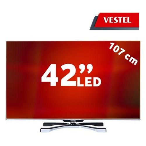 "Vestel 42PF9060 42"" 600Hz HD Uydu Alıcılı (2D>3D Çevirme) SMART FULL HD 3D LED TV + 4 Gözlük"