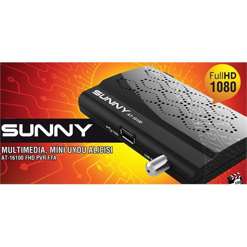 Sunny AT16100 UsbMedia Player PVR + FULL HD Mini Uydu Alıcı