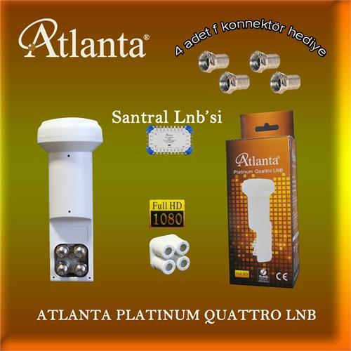 Atlanta Platinum Quattro LNB (Merkezi Sistem Kullanımına Uygun) + F Konnektör